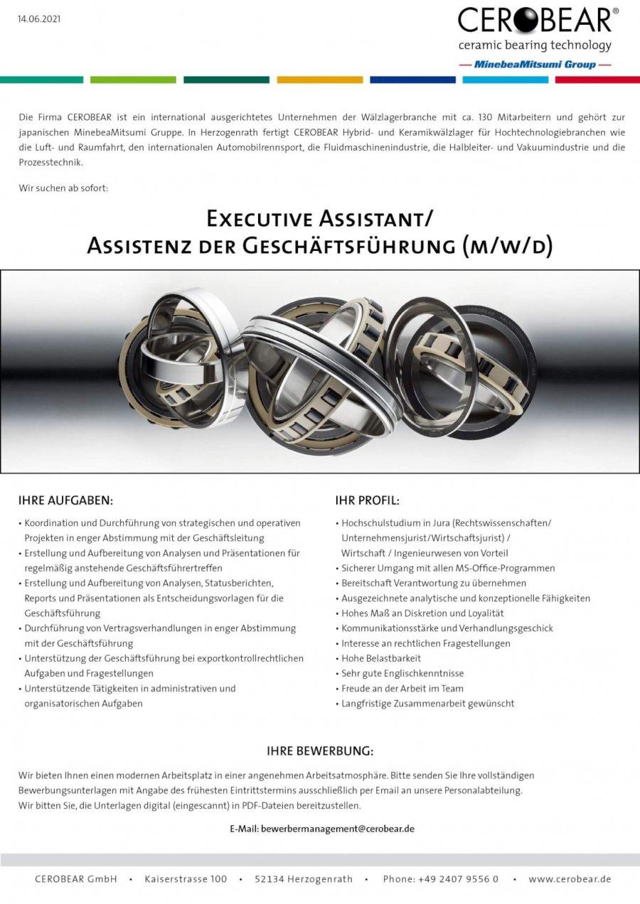 Executive Assistant/Assistant to the Management (m/f/d)