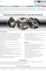 Spezialist Exportkontrolle und Zoll (m/w/d)