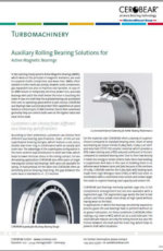 CEROBEAR Auxiliary Rolling Bearing Solutions for Active Magnetic Bearings
