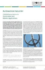 CEROBEAR Bearing Solutions for Automation and Robotic Applications