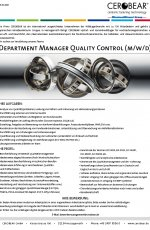 Department Manager Quality Control