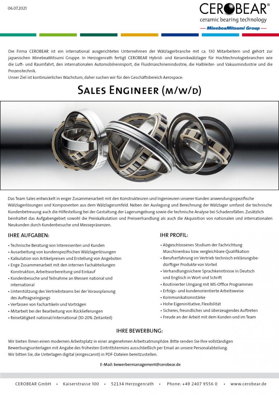 Sales Engineer Aerospace (m/f/d)