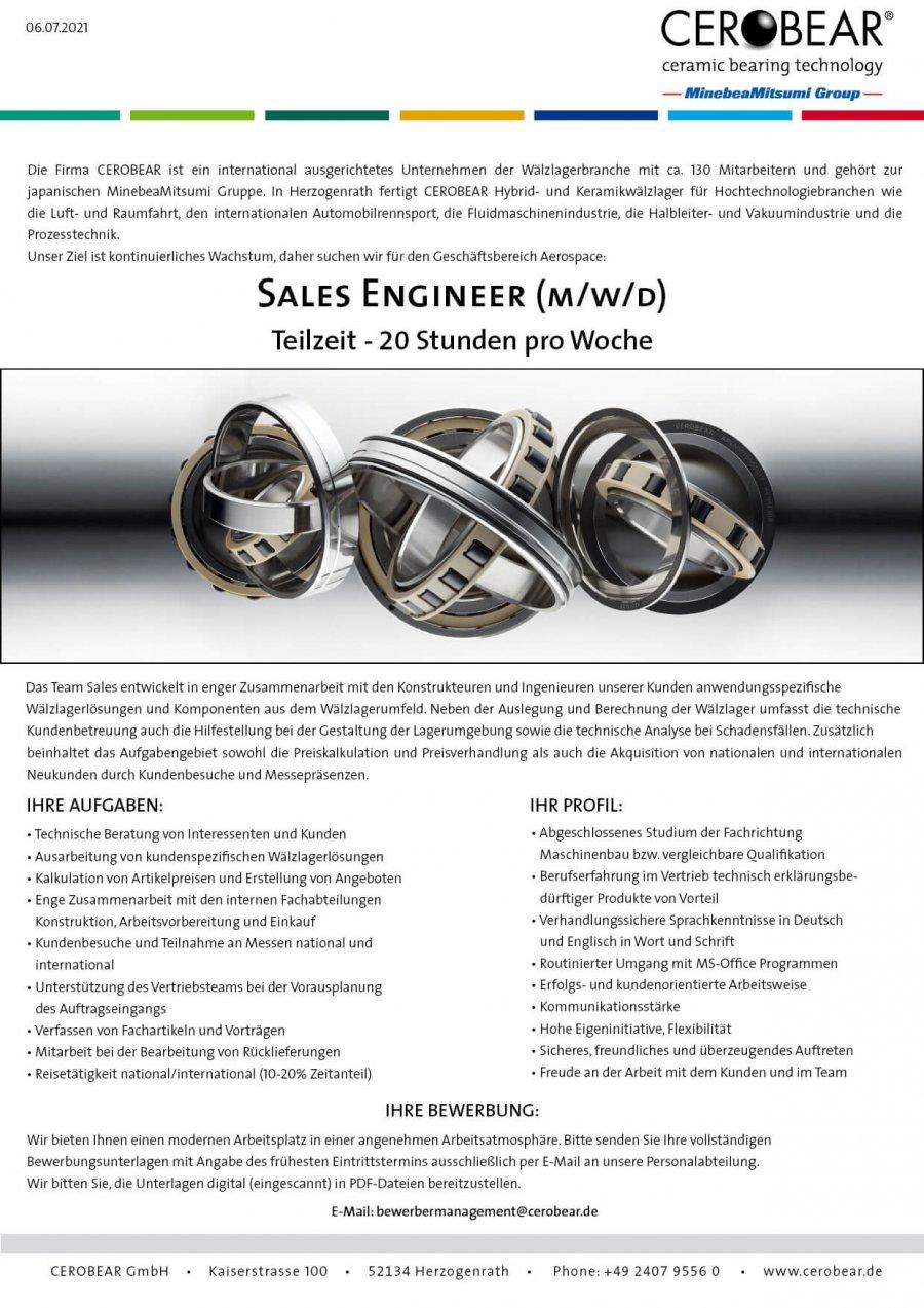 Sales Engineer Aerospace - part time (m/f/d)