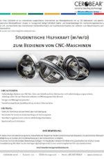 Studentische Hilfskraft (m/w/d) zum Bedienen von CNC-Maschinen
