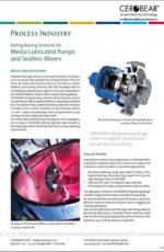 CEROBEAR Rolling Bearing Solutions for Media Lubricated Pumps and Sealless Mixers