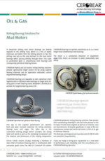CEROBEAR Rolling Bearing Solutions for Mud Motors
