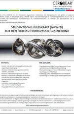 Studentische Hilfskraft (m/w/d) für den Bereich Production Engineering