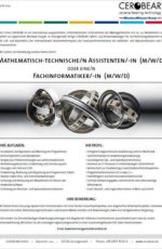 Mathematisch-technische/n Assistenten/-in (m/w/d)