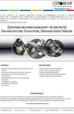 Zerspanungsmechaniker/-in (m/w/d)