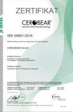 Arbeits- und Gesundheitsschutzmanagementsystem nach ISO 45001